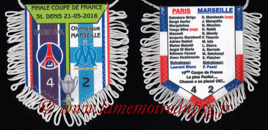 Fanion  PSG-Marseille  2015-16
