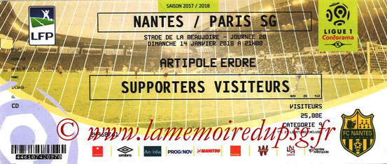 Ticket  Nantes-PSG  2017-18