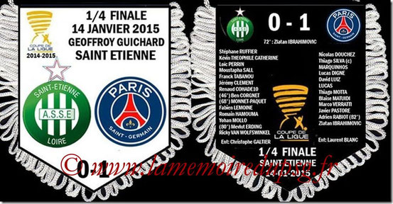 Fanion  Saint-Etienne-PSG  2014-15