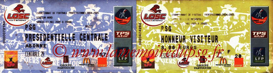 Tickets  Lille-PSG  2004-05