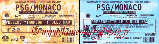Tickets  PSG-Monaco  2004-05