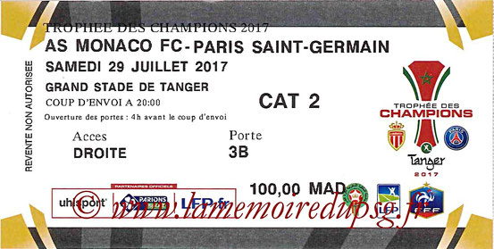 Ticket  Monaco-PSG  2017-18