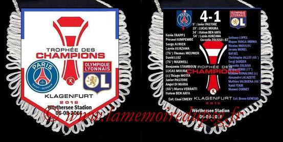 Fanion  PSG-Lyon  2016-17