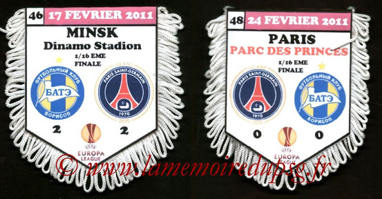 Fanion  PSG-Bate Borisov  2010-11