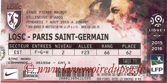 Ticket  Liller-PSG  2015-16