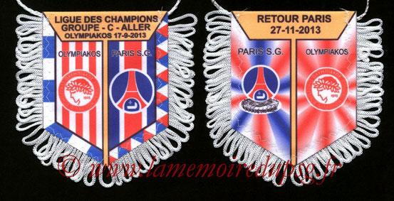 Fanion PSG-Olympiacos 2013-14