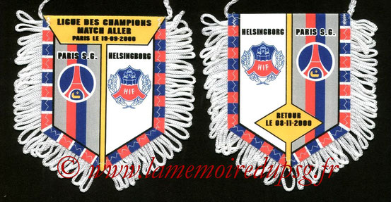 Fanion PSG-Helsingborg IF 2000-01