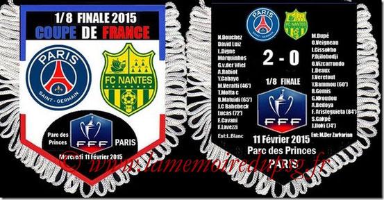 Fanion  PSG-Nantes  2014-15