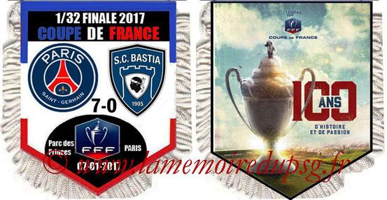 Fanion  PSG-Bastia  2016-17