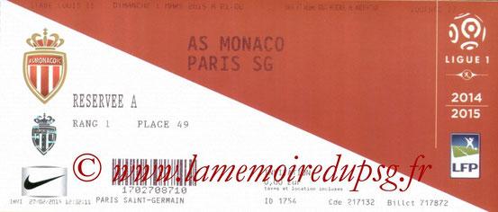 Ticket  Monaco-PSG  2014-15