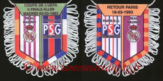Fanion PSG-Real Madrid  1992-93