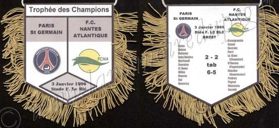 1996-01-03  PSG-Nantes (Trophée des champions avec compos, Collection Jacques)