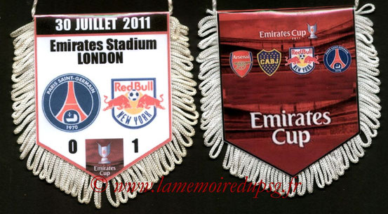 Fanion  PSG-New York Red Bulls  2011-12