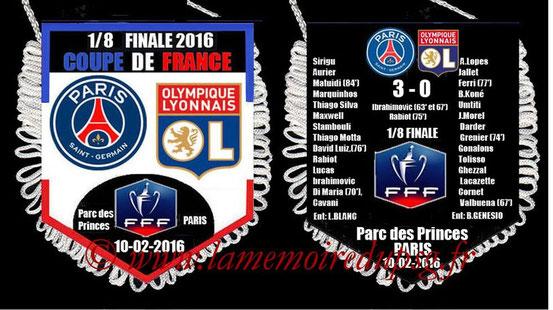 Fanion  PSG-Lyon  2015-16
