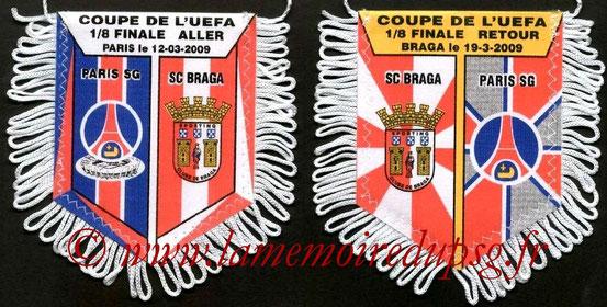 Fanion  PSG-Sporting Braga  2008-09