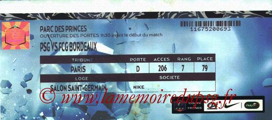 Ticket  PSG-Bordeaux  2014-15