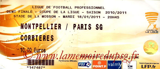 Ticket  Montpellier-PSG  2010-11