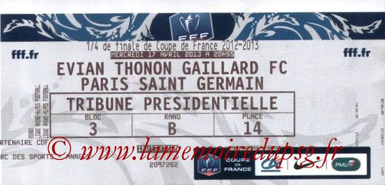 2013-04-17  Evian TG-PSG (Quart Finale CF)