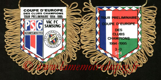 Fanion PSG-FC Vac  1994-95