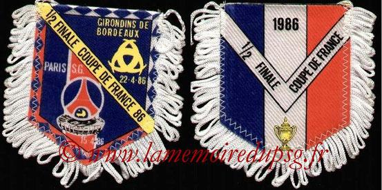 Fanion  PSG-Bordeaux  1985-86