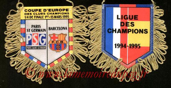 Fanion  PSG-FC Barcelone  1994-95