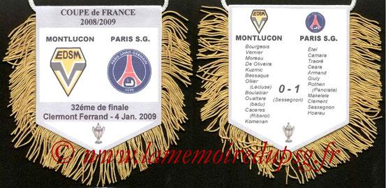 Fanion  Montluçon-PSG  2008-09