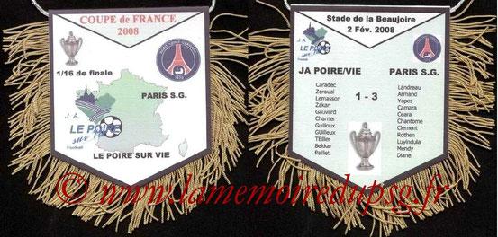 Fanion  Le Poiré sur Vie-PSG  2008-09