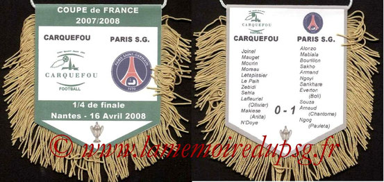 Fanion  Carquefou-PSG  2008-09