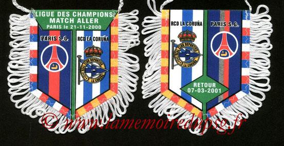 Fanion PSG-La Corogne 2000-01