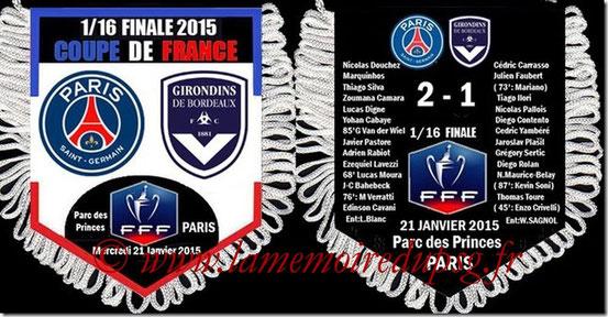 Fanion  PSG-Bordeaux  2014-15