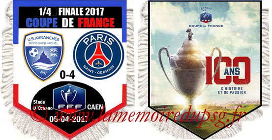 Fanion  Avranches-PSG  2016-17