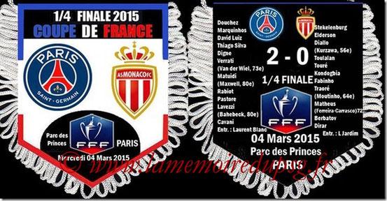 Fanion  PSG-Monaco  2014-15