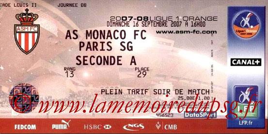 Ticket  Monaco-PSG  2007-08