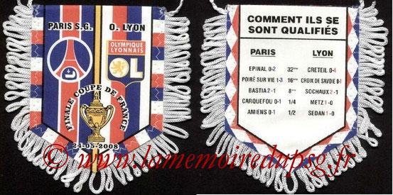 Fanion  PSG-Lyon  2008-09