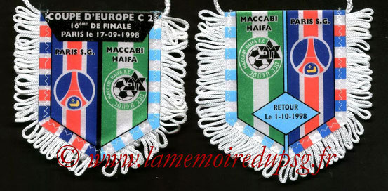 Fanion PSG-Maccabi Haïfa 1998-99