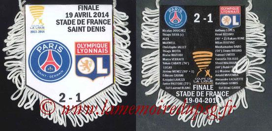 Fanion  Lyon-PSG  2013-14 (CL)