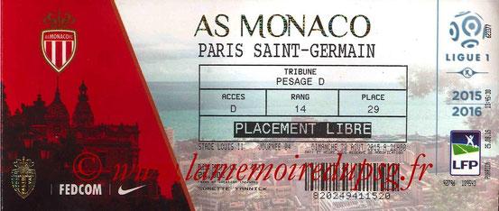 Ticket  Monaco-PSG  2015-16