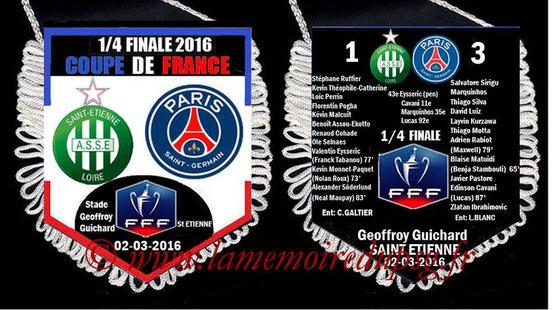 Fanion  Saint Etienne-PSG  2015-16