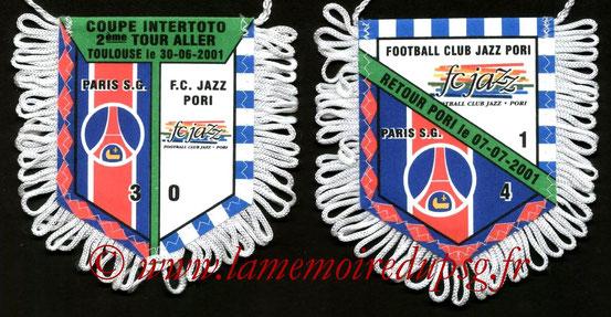 Fanion PSG-FC Jazz Pori 2001-02