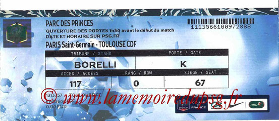 Ticket  PSG-Toulouse  2015-16
