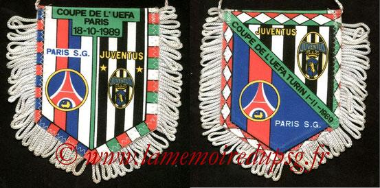 Fanion PSG-Juventus Turin  1989-90