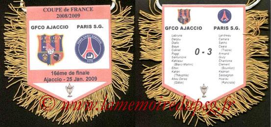 Fanion  Ajaccio-PSG  2008-09