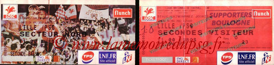 Tickets  Lille-PSG  2001-02