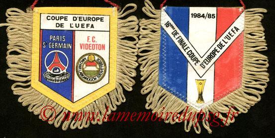 Fanion PSG-FC Videoton  1984-85