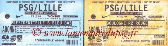 Tickets  PSG-Lille  2004-05