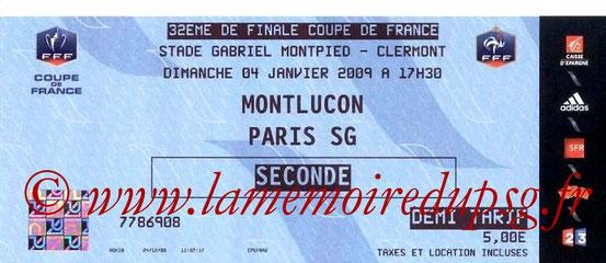 2009-01-04  Montluçon-PSG (32ème CF à Clermont)