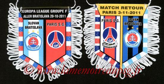 Fanion  PSG-Slovan Bratislava  2011-12