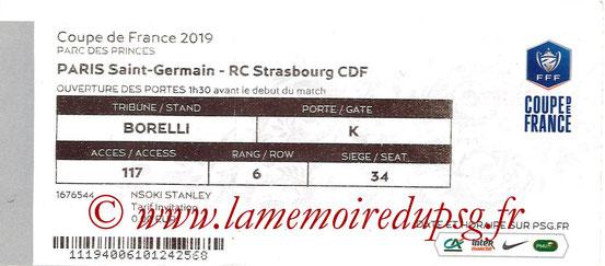 Ticket  PSG-Strasbourg  2018-19