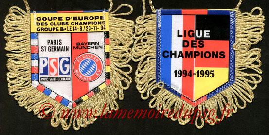 Fanion  PSG-Bayern Munich  1994-95