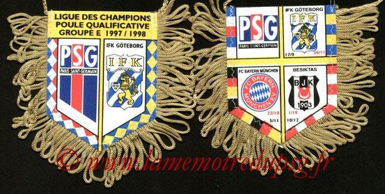 Fanion PSG-IFK Goteborg  1997-98